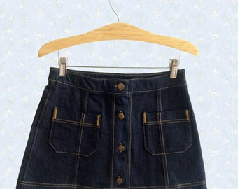 Petite • Denim • Mini skirt