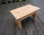 Items Similar To Hand Made Foot Stool Childs Bench