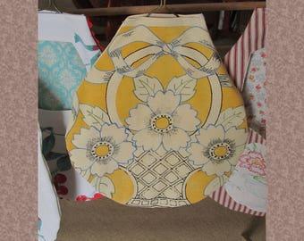 Yellow Clothespin Bag, Peg Bag, Washday Bag, Large Bag for Clothespins, Laundry Duties Bag, Clothes line bag, CPB6