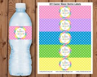 Easter Water Bottle Labels, Easter Water Bottle Wrappers, Easter Water Bottle Wraps, Easter Printable, Easter Instant Download, Easter Label