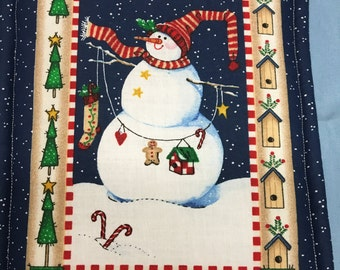 Christmas Snow Men Pot Holder