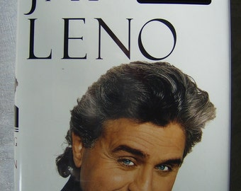 """Autographed Jay Leno """"Leading With My Chin"""" Vintage Book with Chin Signature inside is Signed Jay Leno Book"""