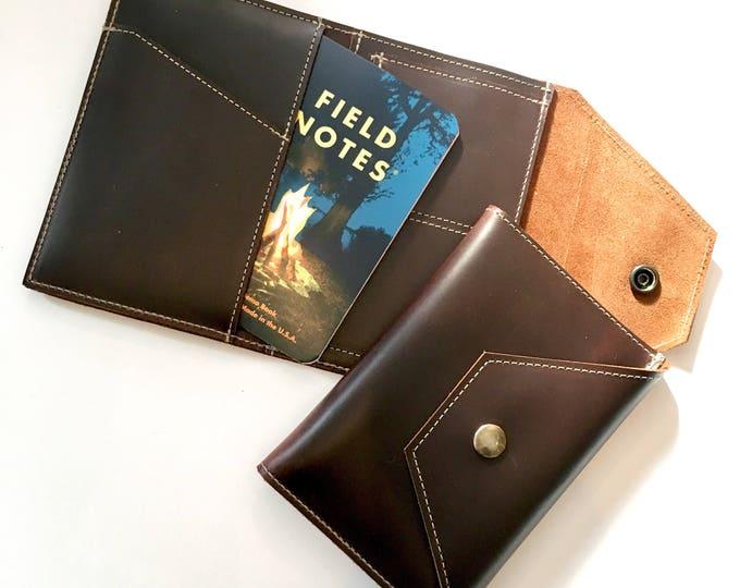 Traveler's wallet - handmade leather wallet / passport holder