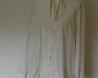 Vintage cream blouse, 1990s