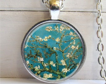 Almond Blossom Necklace, Gift For Her, Floral Pendant
