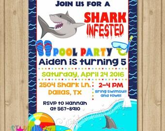shark ticket invitations custom digital ticket invitation