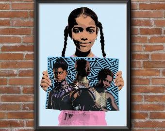Representation Print, Black Panther, Dora Milaje, Girl Power, Children, Womens Rights, Women's March, Protest Art, Printable Art, Download