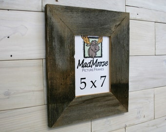 """5x7 BarnWood [Thin x 3""""] Picture Frame"""