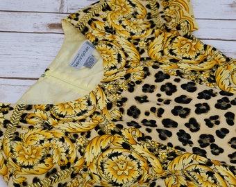 Vintage Bloomingdales Silk Cheetah Dress