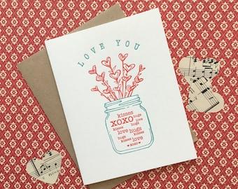 Love You Letterpress Card
