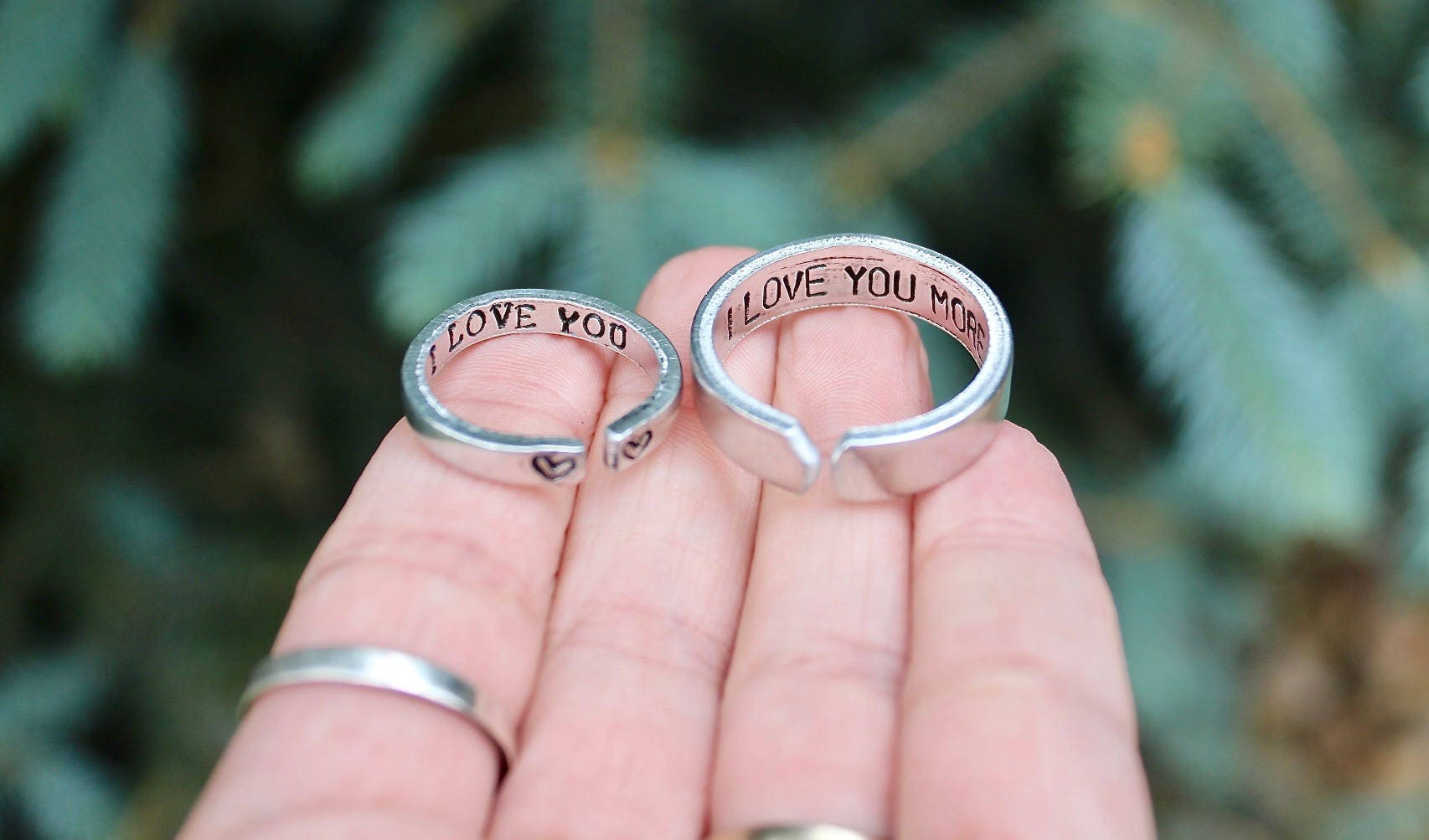 Couple Rings Rings for Boyfriend and Girlfriend I love you