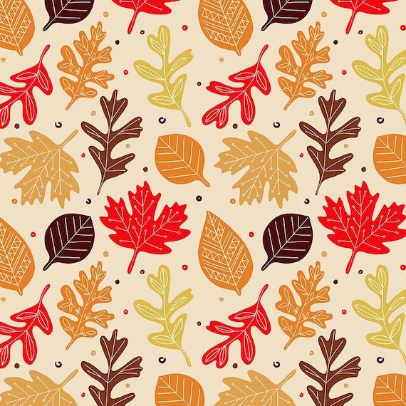 Otoo Thanksgiving Pack 30 Naranja Rojo Verde Marrn Digital Papel