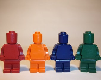 40 Birthday Party Favor Crayons- 10 Packs of 4 High Quality Minifigures