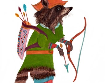 NEW!!! Robin Hood In the Forest PRINT