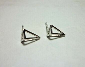 Long Pyramid Stud Earrings