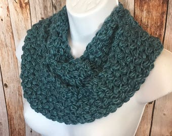 Scarf, Cowl, Hand crocheted Scarf ,Infinity scarf, crocheted cowl, scarflette, neckwarmer, Ready to Ship
