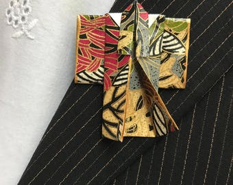 Origami Kimono Pin (dark palette)