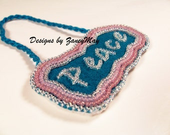 "Signs of the Season ""Peace"" Ornament, Beading Tutorial in PDF"