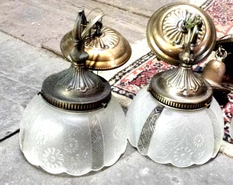 3Matching ceiling lights, Victorian Style ceiling lights