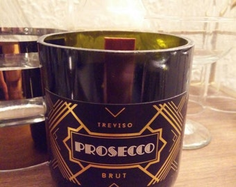 Art Deco Champagne Bottle Soy Candle