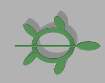 3D Printed Turtle Shawl Pin
