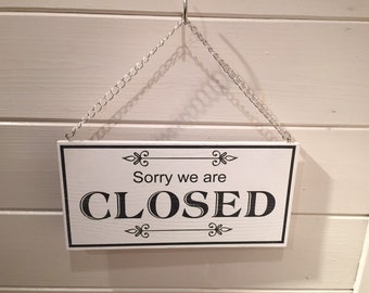 Open and Closed double sided 6-mm rigid hanging sign