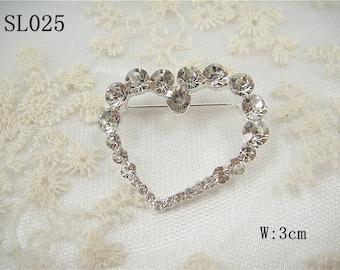 Rhinestone Sweet heart Applique, Diamante Sweet heart Applique, Rhinestone heart shape applique, Sweetheart Motif for garters, sashes