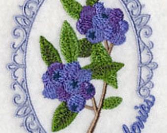 Blueberries Towel - Fruit Towel - Embroidered Blueberry Towel - Flour Sack Towel - Hand Towel - Bath Towel - Apron - Fingertip Towel
