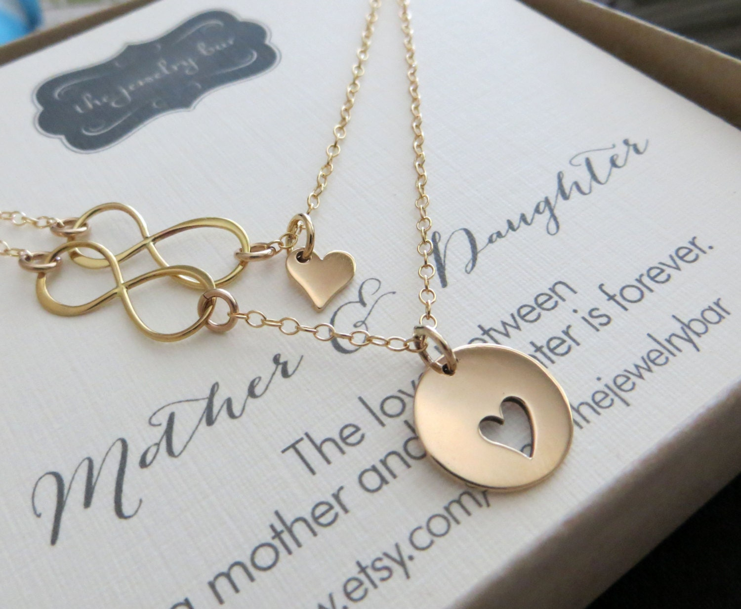 Mom birthday gift mother daughter infinity link necklace set zoom aloadofball Images