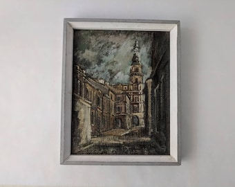 Oil Painting of an Old Town in Poland