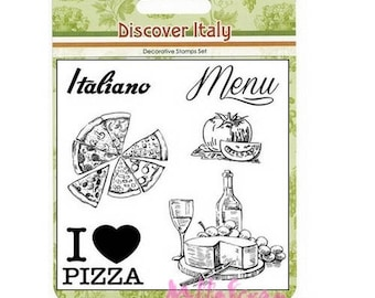 "Clear stamps ""Discover Italy"" 1 scrapbooking embellishment *."