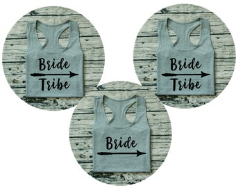 Bride tribe On decals,Iron on transfer stickers,heat transfer vinyl sticker,Bachelorette Party Bridal Wedding Party tank top