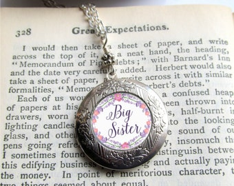 Big Sister Necklace, Photo Locket, Locket Necklace, Big Sister Jewelry