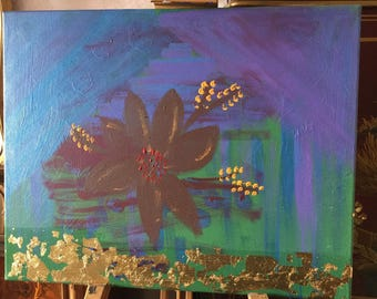 Picture painted with acrylic colors