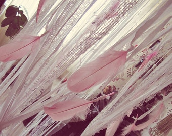 Bed Canopy for Girls  - Shabby Boho Nursery Decor - Baby Crib Canopy - Bohemian Bed Canopy - Crib Bedding - Girls Nursery -  Crib Mobile
