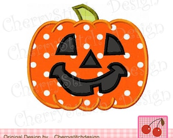 Halloween Jack O'Pumpkin,Pumpkin Jack, Halloween Digital Embroidery Applique -4x4 5x5 6x6 inch-Machine Embroidery Applique Design