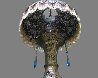 Moroccan Floor Lamp   Antique   Pierced Brass   Gorgeous!
