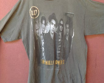Vintage 90s The Wallflowers Bringing Down The Horse Dylan/Rock/Tour T Shirt/Grunge/90s Band
