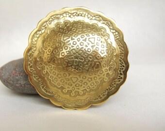 Big ethnic jewelry,Art jewelry,Gold brooch,Modern ethnic jewelry,Gold art jewelry,Unique jewelry,Metalsmith jewelry,Gold ethnic statement.