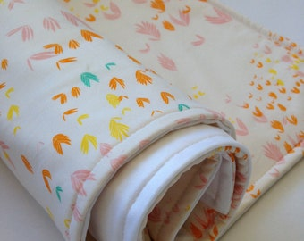 Portable Waterproof Baby Change Mat in Forest Flowers