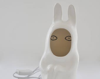 Ceramic  lamp - white Rabbit