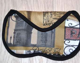 Old Paris fabric glasses case