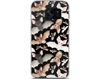 Batty For Bats! (Black) Samsung Case