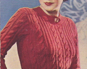 1937 Cable knit sweater