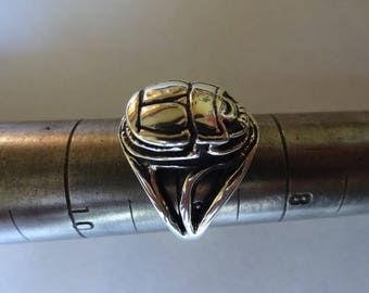 Sterling Silver SCARAB RING, Eternal Life Beatle  gifts for her, Ring Size 5, 6, 7, 7.5, 8, 8.5,9,9.5, 10, 10.5, 11 statement ring