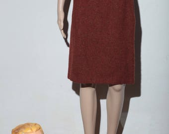 Skirt cacharel 70, rusty Brown speckled