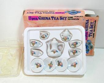 Miniature Tea Set, Doll Tea Set, In Original Box