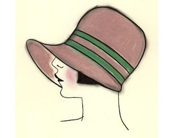Art Deco Art - Art Deco Artwork - Georgina - 4 for 3 SALE -  4 X 6 PRINT