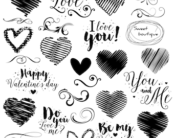 Love clipart set, Hearts Clipart, Heart clip art, Valentines day clipart, Wedding Digital ClipArt, Digital heart, Digital hearts, Loves 1050