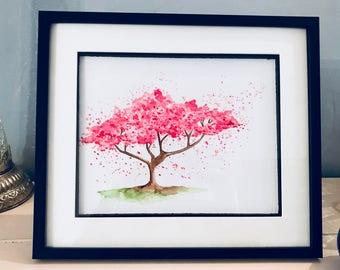 Watercolour Blossom Original Painting